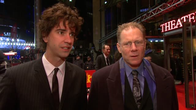 Hamish Linklater and David Warshofsky on Miranda July on rehearsing on what to expect at the The Future Premiere 61st Berlin International Film...