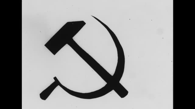 hammer and sickle symbol / note: exact year not known - communism stock videos & royalty-free footage