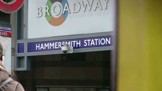 hammersmith subway station in london - underground station stock videos & royalty-free footage