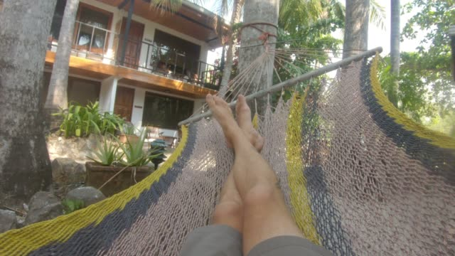 hammock pov - wearable camera stock videos & royalty-free footage