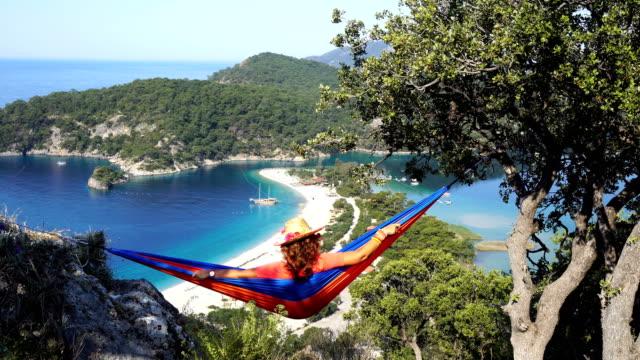 hammock. - hammock stock videos & royalty-free footage