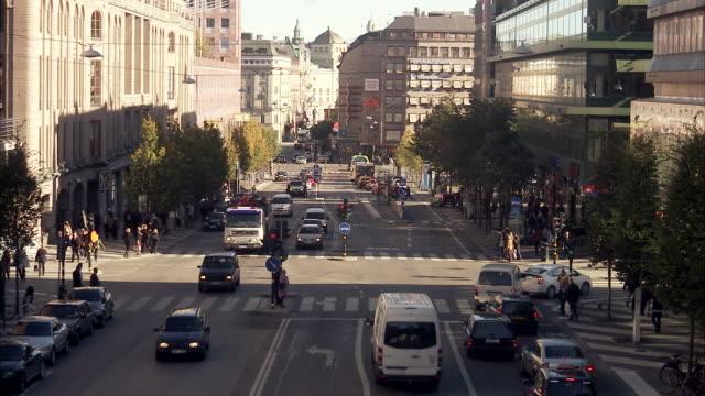 hamngatan stockholm sweden. - swedish culture stock videos and b-roll footage