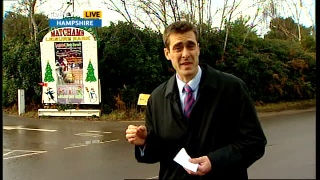 hampshire lapland theme park disappoints visitors day reporter to camera apparently the elves are back / a few of them anyway / apparently they have... - damon green stock videos and b-roll footage