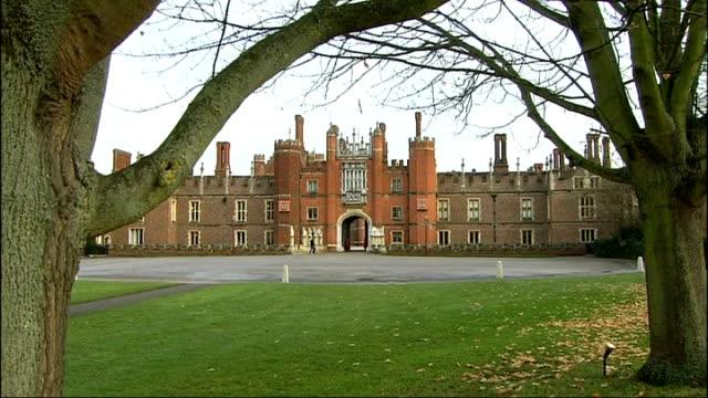 hampton court palace as choir heard singing int choir singing - choir stock videos & royalty-free footage