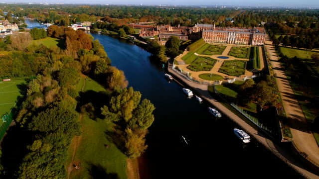 hampton court palace - river thames stock videos & royalty-free footage