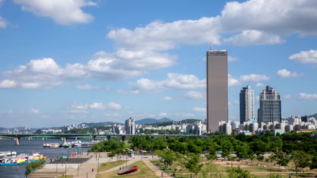 han river park in yeouido seoul south korea - resting stock videos & royalty-free footage