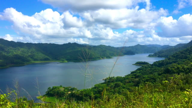 hanabanilla, cuba: aerial view of the beautiful nature in the tropical climate natural reserve - kuba stock-videos und b-roll-filmmaterial