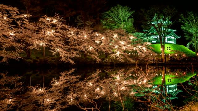 花見祭や新潟県上越市の高田公園で桜祭り - 伝統行事点の映像素材/bロール