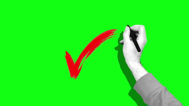 hand check green screen - drawing activity stock videos & royalty-free footage