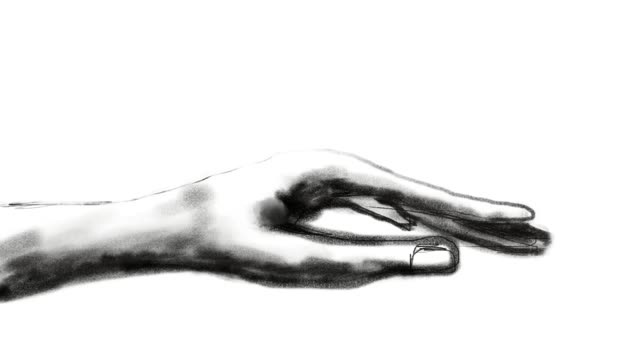 hand drawing , animation cartoon sketch , human hand and body language , woman fingers - continuity stock videos & royalty-free footage