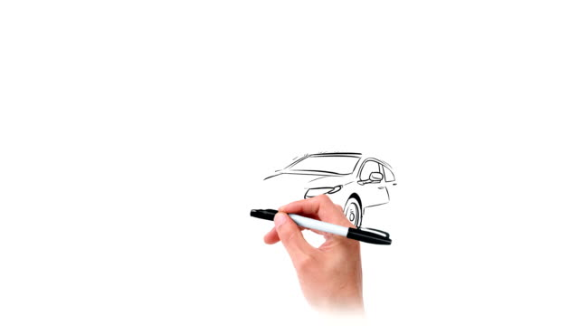 Hand Drawing Cars