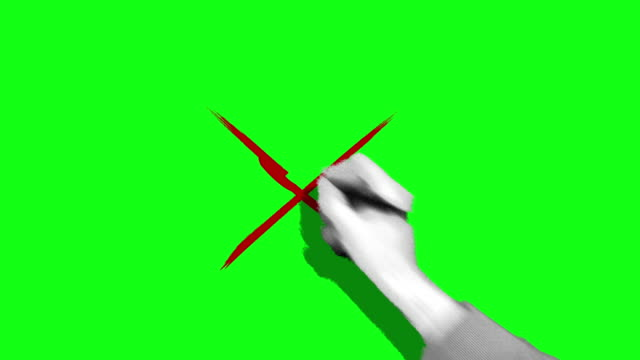 hand drawing cross mark green screen - letter x stock videos & royalty-free footage