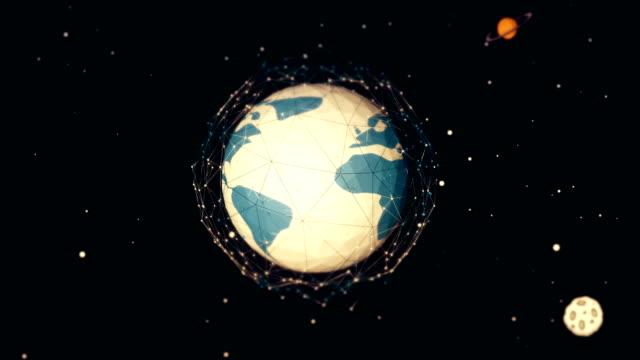 hand drawn earth loop - longitude stock videos & royalty-free footage