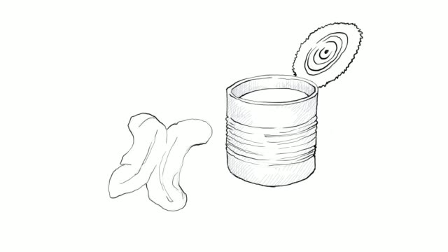 hand drawn of fried doughstick with condensed milk video clip - churro stock videos & royalty-free footage