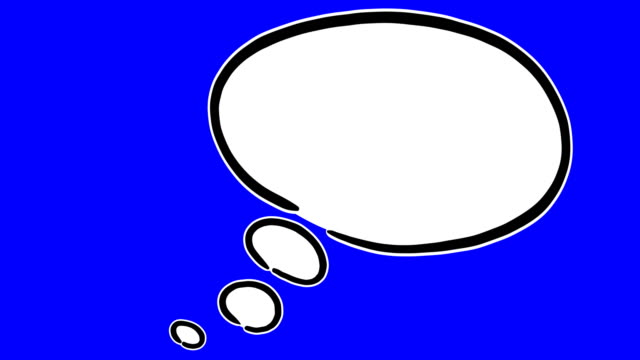 hand drawn think bubble animation with empty space - speech bubble stock videos & royalty-free footage