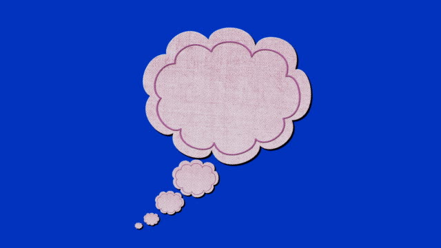hand drawn think bubble animation with empty space - dreamlike stock videos & royalty-free footage