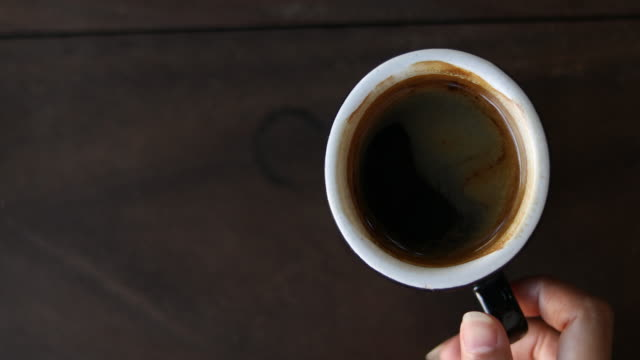 hand grab a cup of black coffee - cup stock videos & royalty-free footage