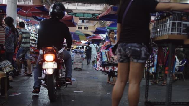 Hand Held Shot of Manila Street Market