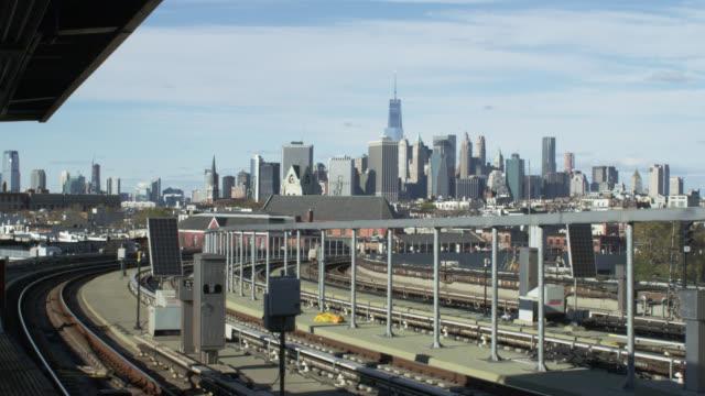 Hand held shot of NYC skyline