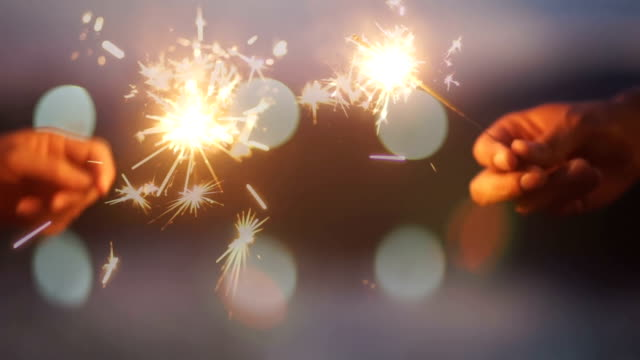 hand held sparklers - sparkler stock videos & royalty-free footage