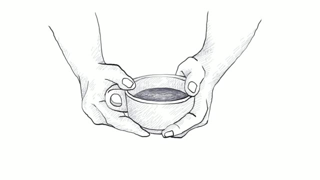 hand holding a cup hot coffee video clip - roasted coffee bean stock videos & royalty-free footage