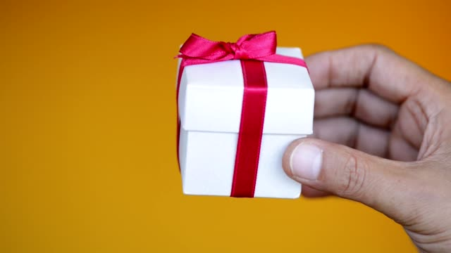 hand holding gift box - birthday stock videos & royalty-free footage