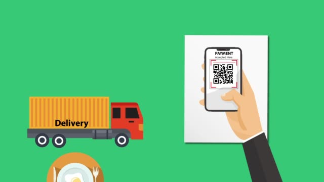 hand holding smartphone scan qr code products and delivery - coding stock videos & royalty-free footage