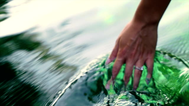 hand in the pure,clean water - river stock videos & royalty-free footage