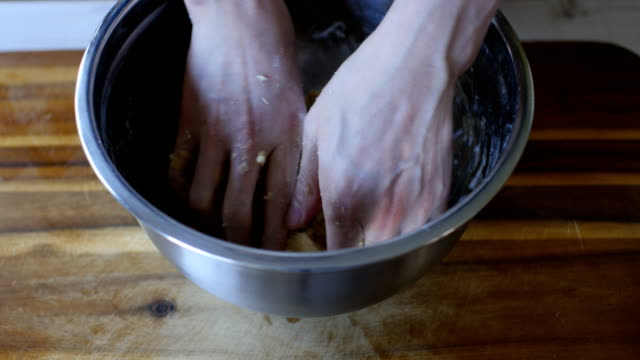 hand knead shortbread dough - cookie stock videos & royalty-free footage