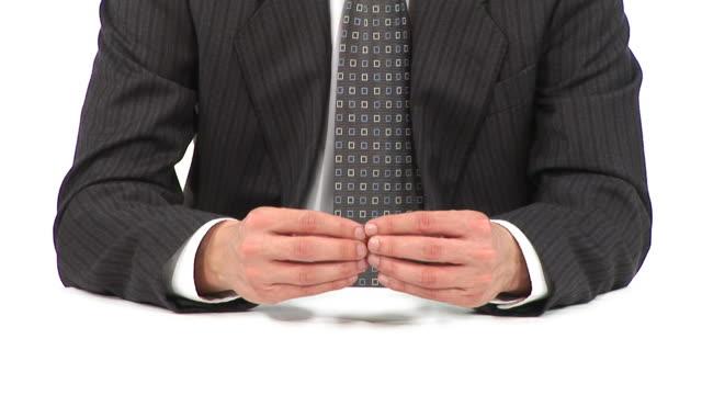 stockvideo's en b-roll-footage met hd: hand language - overhemd en stropdas