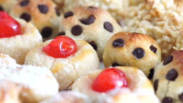hand made panellets in assorted tray - quince stock videos & royalty-free footage