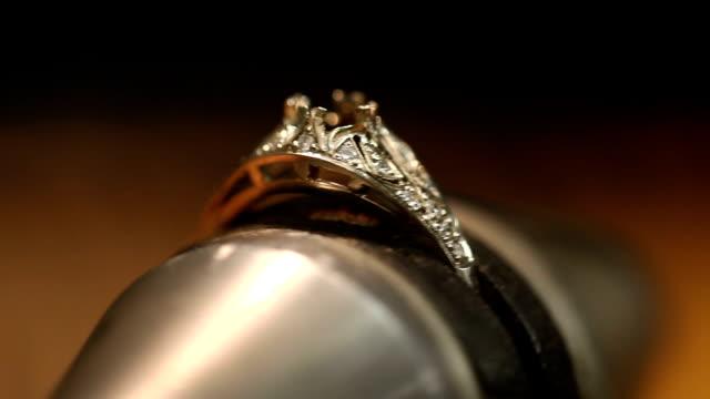 Handgemachte Ring. Im Juwelier-workshop