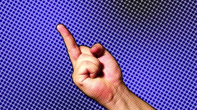 hand making gestures - obscene gesture stock videos and b-roll footage