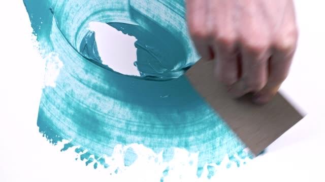 vídeos y material grabado en eventos de stock de pintado a mano - acrílico