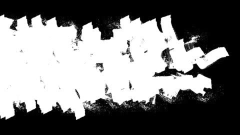 handbemalte breite streifen-design-element - schwarzweiß bild stock-videos und b-roll-filmmaterial