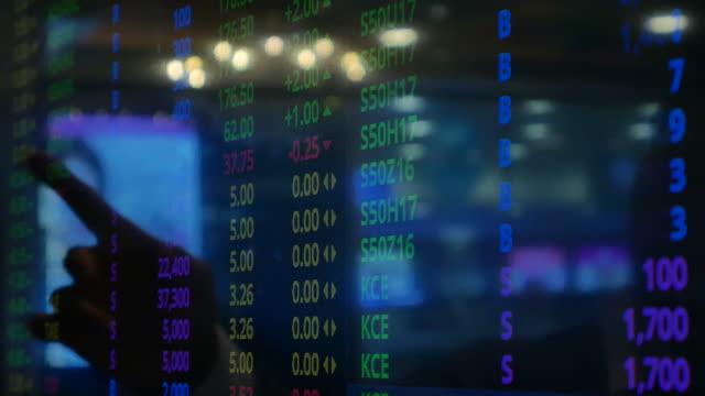 vídeos y material grabado en eventos de stock de gráfico de acciones de punto de mano - hoja de cálculo
