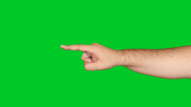 4k hand pointing on chroma key - pointing stock videos and b-roll footage