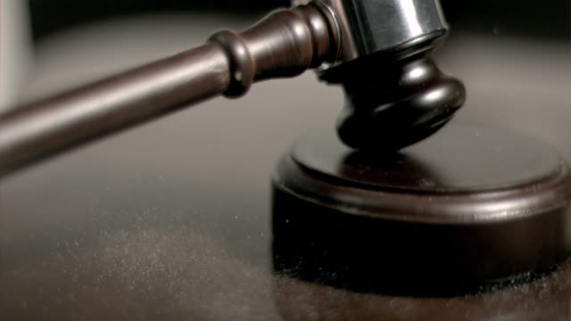 hand pounding gavel in super slow motion - gavel stock videos & royalty-free footage