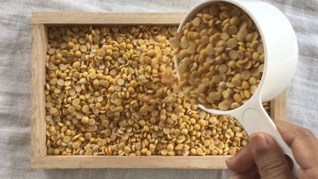 hand pouring soybeans in a wooden tray - dried food stock videos & royalty-free footage