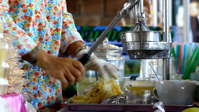 hand press machine for make orange juice