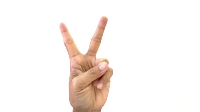 hand raising with show  victory sign - cnd sign stock videos & royalty-free footage