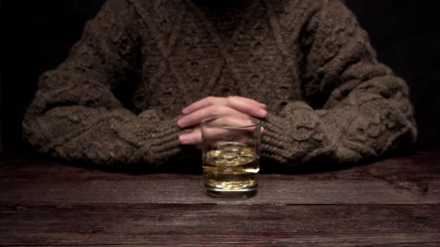 hand refusing whiskey - refusing stock videos & royalty-free footage