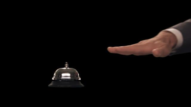 vídeos y material grabado en eventos de stock de ms hand rings bell - sólo hombres de mediana edad