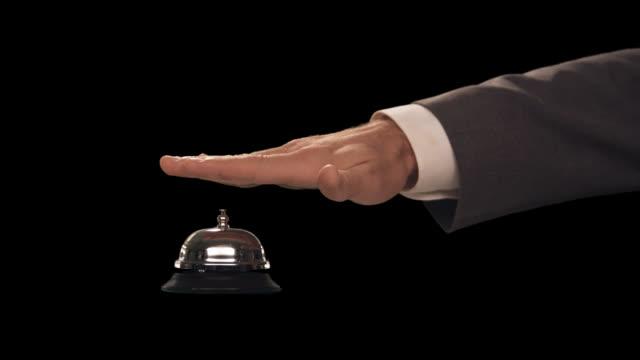 vídeos y material grabado en eventos de stock de ms hand rings bell--multiple rings - sólo hombres de mediana edad