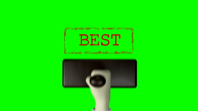 "3d hand stempel ""best"" green screen 4k auflösung - briefmarke stock-videos und b-roll-filmmaterial"