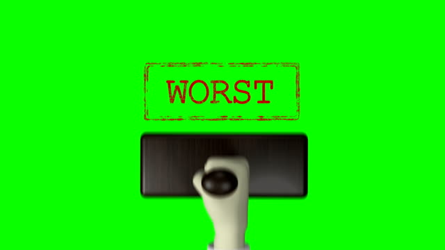 "3d hand stempel ""worst"" green screen 4k auflösung - briefmarke stock-videos und b-roll-filmmaterial"