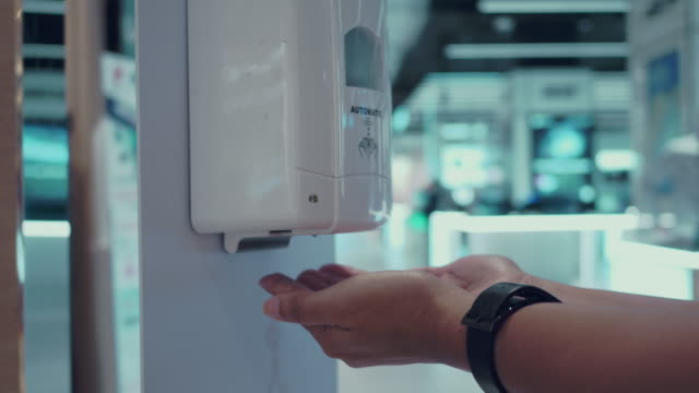 hand sanitizer - soap dispenser stock videos & royalty-free footage