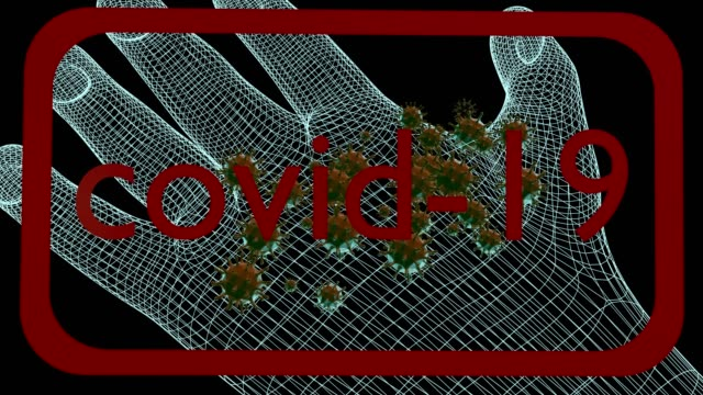 hand scan virus covid-19. - bronchiole stock videos & royalty-free footage