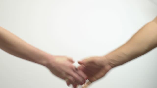 hand shake man and woman