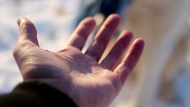 hand shaking between two friends - human hand stock videos & royalty-free footage